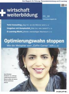 Wirtschaft + Weiterbildung Cover