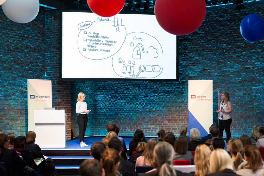 Agile HR Conference – Einblicke auf der Bühne