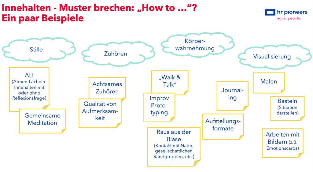 """Innehalten – Muster brechen: """"How to ...""""?"""